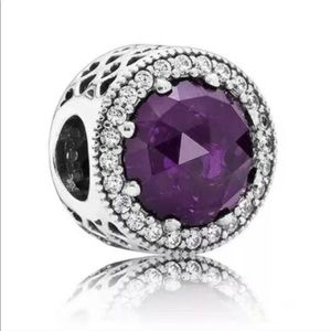 Pandora Purple radiant heart charm